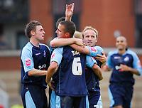 Photo: Leigh Quinnell.<br /> Leyton Orient v Swansea City. Coca Cola League 1. 06/10/2007. Swanseas Thomas Butler celebrates his goal.