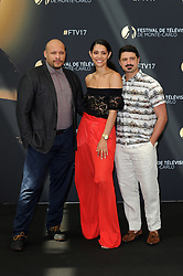 "Monte Carlo, 57th Festival of Television. Photocall ""Chicago Fire"" pictured: Joe Minos, Miranda Rae Mayo, Yuri Sardarov"