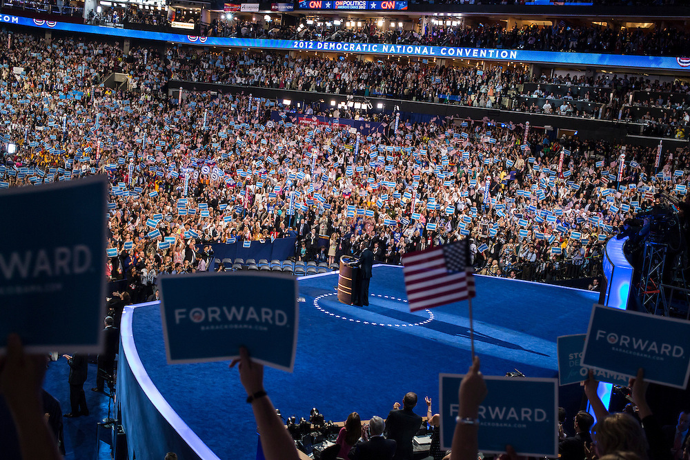 President Barack Obama speaks at the Democratic National Convention on Thursday, September 6, 2012 in Charlotte, NC.