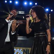 NLD/Amsterdam/20150203 - Uitreiking 100% NL Awards 2015, Jayh en Sharon Doorson