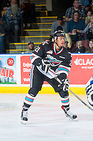 KELOWNA, CANADA - OCTOBER 9: Devante Stephens #21 of Kelowna Rockets skates against the Victoria Royals on OCTOBER 9, 2015 at Prospera Place in Kelowna, British Columbia, Canada.  (Photo by Marissa Baecker/Getty Images)  *** Local Caption *** Devante Stephens;