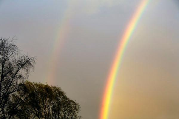 Nederland, Ubbergen, 26-4-2012Dubbele regenboog.Foto: Flip Franssen/Hollandse Hoogte