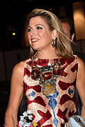 Koning Willem-Alexander en koningin Maxima zijn aanwezig bij de  premierevoorstelling Ode aan de Meester, een eerbetoon aan choreograaf. <br /> <br /> King Willem-Alexander and Queen Maxima are present at the premiere performance Ode aan de Meester, a tribute to choreographer.<br /> <br /> Op de foto / On the photo:  Koningin Maxima / Queen Maxima