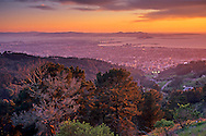 Sunset over the San Francisco Bay from the Berkeley Hills, Alameda County, CALIFORNIA