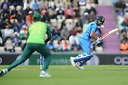 Virat Kohli of India batting during the ICC Cricket World Cup 2019 match between South Africa and India at the Hampshire Bowl, Southampton, United Kingdom on 5 June 2019.