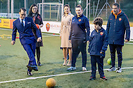 15-12-2016 ROME ITALY - The Crown Princess Couple and Minister for Upper Secondary School and Adult Education and Training Anna Ekstr&ouml;m will visit AS Roma&rsquo;s project for children with disabilities. <br />  The Crown Princess Couple&rsquo;s Princess Victoria and Prince Daniel visit to Rome and Milan, Italy, December 15-17  COPYRIGHT ROBIN UTRECHT