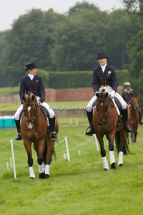 Mary-Anne Carpenter riding Alles Klar (Left of picture)<br />