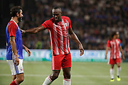 Usain Bolt (FIFA 98) and Robert Pires (France 98) during the 2018 Friendly Game football match between France 98 and FIFA 98 on June 12, 2018 at U Arena in Nanterre near Paris, France - Photo Stephane Allaman / ProSportsImages / DPPI