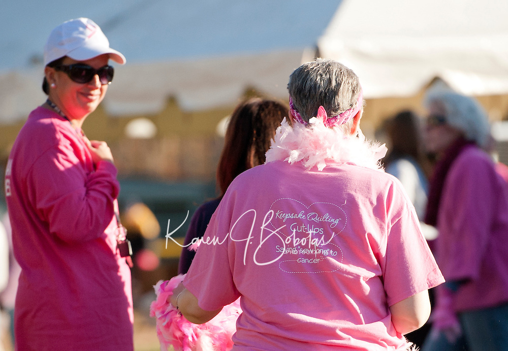 Making Strides Against Breast Cancer walk in Laconia, NH  October 21, 2012.  (Karen Bobotas/for the Laconia Daily Sun)