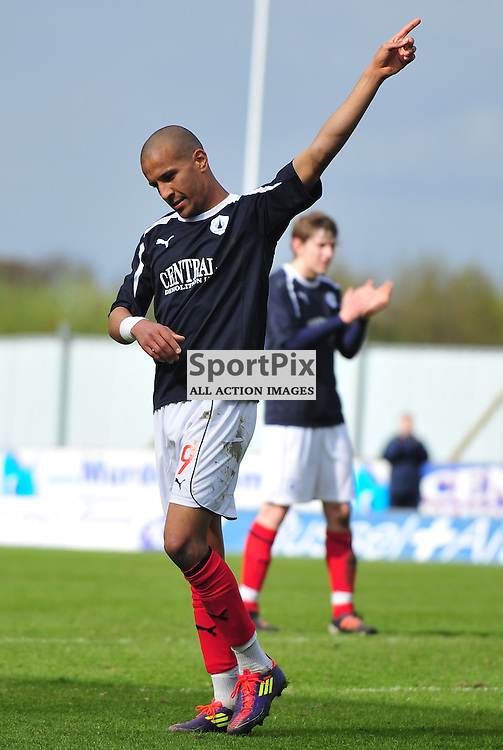 Farid El Alagui salutes the fans as he is substituted in his last appearance for the club..Falkirk v Ayr, SFL 1st Division, Saturday 5th May 2012..ALEX TODD | STOCKPIX.EU