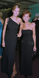 Left to right, LADY VICTORIA HERVEY and her mother YVONNE, MARCHIONESS OF BRISTOL at a reception in London on 30th September 1997.MBT 27