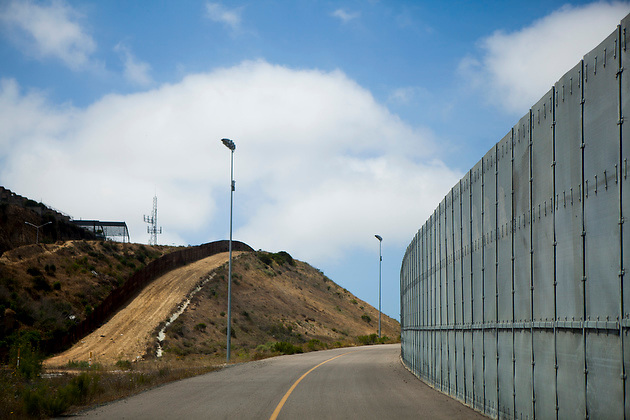 A view of the U.S.-Mexico border fence near Smuggler's Gulch.