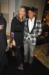 ALLEGRA HICKS and LAPO ELKANN at a party hosted by Allegra Hicks to launch Lapo Elkann's fashion range in London held at Allegra Hicks, 28 Cadogan Place, London on 14th November 2007.<br />