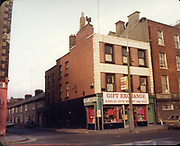 Old Dublin Amature Photos December 1983 WITH, Four Courts, North Quays, Parlement St, Gratton Bridge, Sea Horse, Lantern, Lampost, Chancery Inn, st, Arron Quay, Church, South Quays, Nashs, Gift Exchange, Surplus Gifts Bought and Sold,