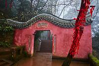 Chine, Province du Sichuan, Mingshan, montagne de Mengding où le moine taoiste Wu Lizhen planta les premiers arbres à thé  // China, Sichuan province, Mingshan, Mengding mountain where Wu Lizhen, the first know grower of tea