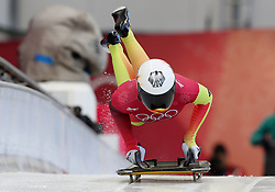 Germany's Jacqueline Loelling during the Women's Skeleton practice on day three of the PyeongChang 2018 Winter Olympic Games in South Korea. PRESS ASSOCIATION Photo. Picture date: Monday February 12, 2018. See PA story OLYMPICS Skeleton. Photo credit should read: David Davies/PA Wire. RESTRICTIONS: Editorial use only. No commercial use.