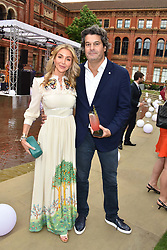 Helen David and Tim Moufarrige at the Victoria & Albert Museum's Summer Party in partnership with Harrods at The V&A Museum, Exhibition Road, London, England. 20 June 2018.