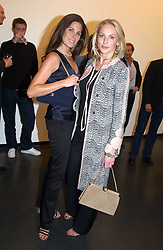 Left to right, ELIZABETH SALTZMAN and TAMZIN GREENHILL at a private view of Sculptures by Richard Hudson held at Hamiltons Gallery, 13 Carlos Place, London on 10th May 2005.<br /><br />NON EXCLUSIVE - WORLD RIGHTS