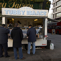 Tubby Isaac jellied eel stand, Whitechapel, London