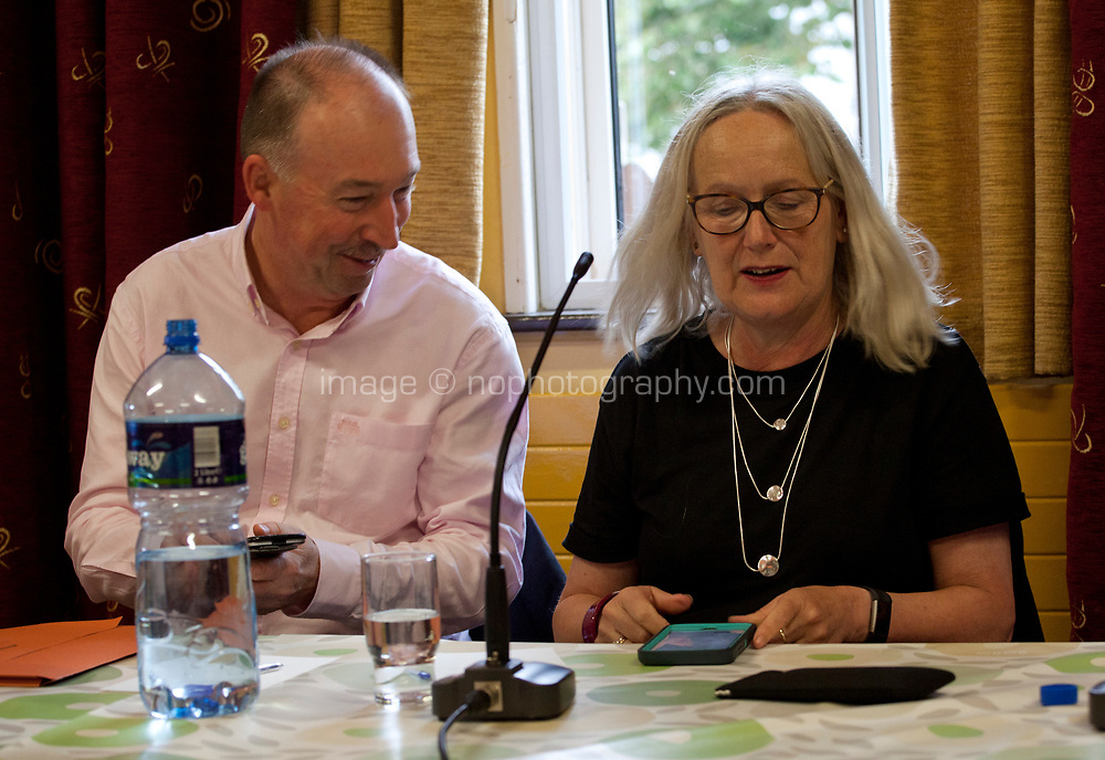 Michael O'Keefe, CEO Broadcasting Authority of Ireland and Dr Annie Doona, Chair Screen Ireland at the 'Accelerating Gender Equality: Time for Quotas? What do you think?' Panel Discussion at the Galway Film Fleadh, Galway Rowing Club, Galway, Ireland. Saturday 14th July 2018