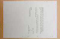 13 JUL 2007, BERLIN/GERMANY:<br /> Repro eines Dokuments zur NSDAPS-Mitgliedschaft von Horst Ehmke, aus dem Archiv des Bundesarchivs<br /> IMAGE: 20070613-01-025