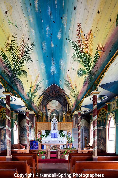 HI00465-00....HAWAI'I - St. Benedict Roman Catholic Church in Honaunau. Known as The Painted Church. The first painted church in Hawai'i.