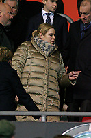Football - 2013 / 2014 Premier League  - Southampton vs. Arsenal<br /> Southampton Owner and Non Executive Chairman Katharina Liebherr takes her seat before kick off at St Mary's Stadium Southampton <br /> <br /> Colorsport/Shaun Boggust