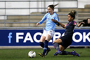Manchester City forward Janine Beckie (11) and Everton defender Gabrielle George (6) during the FA Women's Super League match between Manchester City Women and Everton Women at the Sport City Academy Stadium, Manchester, United Kingdom on 20 February 2019.