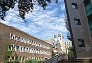 Buildings on campus of University of Swansea, Swansea, West Glamorgan, South Wales, UK