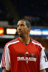 January 19, 2011; Sacramento, CA, USA;  Portland Trail Blazers point guard Andre Miller (24) warms up before the game against the Sacramento Kings at the ARCO Arena. Portland defeated Sacramento 94-90 in overtime.
