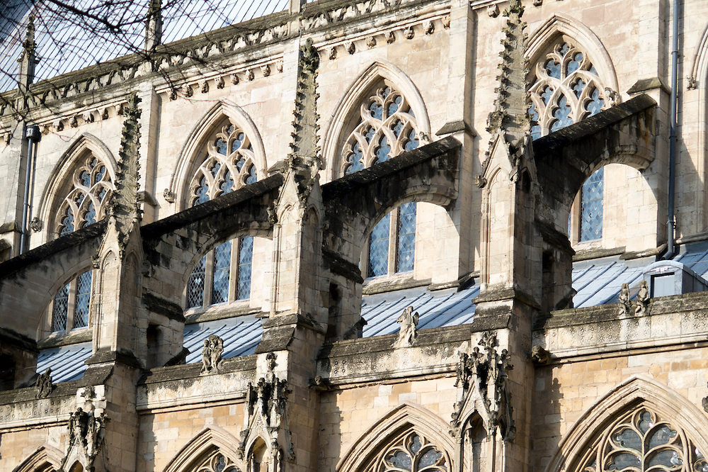 14th Century Flying Buttress On The South Side Of Beverley Minster Yorkshire UK