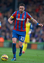 LONDON, ENGLAND - Saturday, February 21, 2015: Crystal Palace's Damien Delaney in action against Arsenal during the Premier League match at Selhurst Park. (Pic by David Rawcliffe/Propaganda)