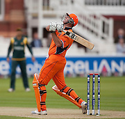 Darron Reekers is out caught during the ICC World Twenty20 Cup match between Pakistan and Netherlands at Lord's. Photo © Graham Morris (Tel: +44(0)20 8969 4192 Email: sales@cricketpix.com)