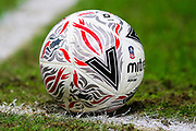 The match ball during the The FA Cup match between Derby County and Northampton Town at the Pride Park, Derby, England on 4 February 2020.