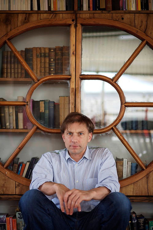 UK. London. Portrait of Simon McBurney at his home in North London. He plays Kreacher in the Harry potter films