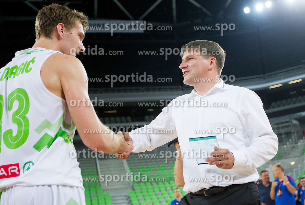 Zoran Dragic of Slovenia after the basketball match between National teams of Slovenia and Serbia in day 3 of Adecco cup, on August 5, 2012 in Arena Stozice, Ljubljana, Slovenia. (Photo by Vid Ponikvar / Sportida.com)