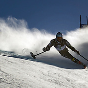 Ralph Green, USA, in action during the Men Giant Slalom Standing competition at Coronet Peak, during the Winter Games. Queenstown, New Zealand, 23rd August 2011. Photo Tim Clayton...