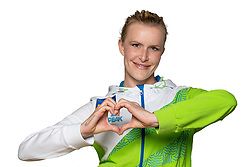 Adela Sajn at official photoshoot of Slovenian Gymnastics team prior to 2018 Koper Challenge Cup, on May 14, 2018 in Gimnasticna dvorana, Ljubljana, Slovenia. Photo by Matic Klansek Velej / Sportida