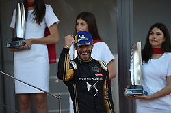 May 11, 2019 - Monaco, Monaco - Jean Eric Vergne on podium Cerimony of the 3rd edition of Monaco E-Prix, in port neighborhood in Monaco, France  (Credit Image: © Andrea Diodato/NurPhoto via ZUMA Press)