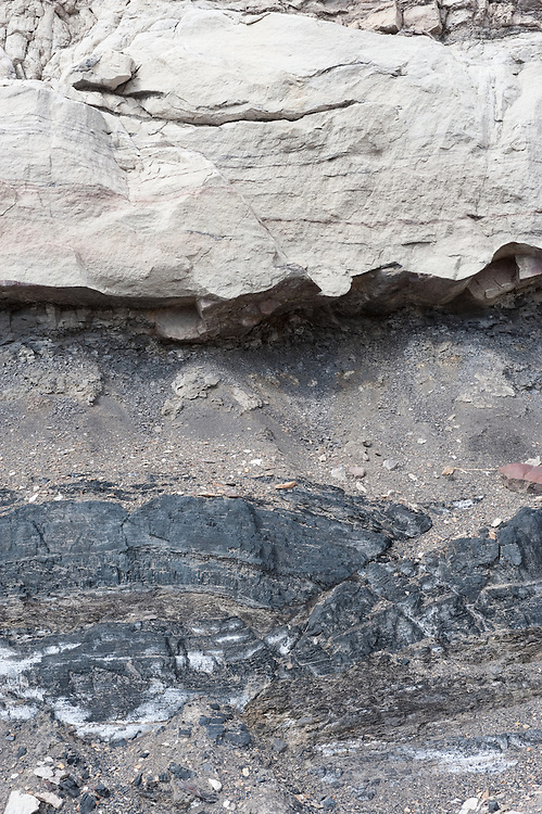 a small reverse fault offsets coal beds in the Late Cretaceous Vermejo Formation, near Trinidad, Colorado