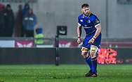 Leinster's Sean O'Brien in action <br /> <br /> Photographer Craig Thomas/Replay Images<br /> <br /> Guinness PRO14 Round 17 - Scarlets v Leinster - Friday 9th March 2018 - Parc Y Scarlets - Llanelli<br /> <br /> World Copyright © Replay Images . All rights reserved. info@replayimages.co.uk - http://replayimages.co.uk
