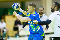 Blaz Blagotinsek of Slovenia during Handball friendly match between Slovenia and Iran, on January 4, 2018 in Dol pri Hrastniku, Dol pri Hrastniku, Slovenia. Photo by Ziga Zupan / Sportida