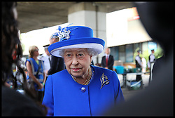 June 16, 2017 - London, London, United Kingdom - Image ©Licensed to i-Images Picture Agency. 16/06/2017. London, United Kingdom. The Queen and Prince William Visit Grenfell Flats. .The Queen and Prince William visits Westway sports centre which has been transformed into a makeshift hostel for survivors of the Grenfell Tower and meets with locals residents. According to reports, 30 people were confirmed dead with many still missing. Picture by Dinendra Haria / i-Images (Credit Image: © Dinendra Haria/i-Images via ZUMA Press)