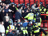 Photo: Rich Eaton.<br /> <br /> Bristol City v Millwall. Coca Cola League 1. 16/12/2006. Millwall fans and police mix after Millwall go 1-0 down away at Bristol