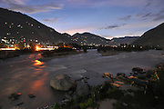 India, Himachal Pradesh, khirganga hot springs, Parvati valley at night