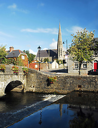 Westport Co Mayo, A view from across the Mall looking at Holy Trinity Church...Pic Conor McKeown