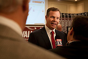 Utah Attorney General candidate John Swallow speaks with the media at the Utah Republican Party results party, Tuesday, Nov. 6, 2012.