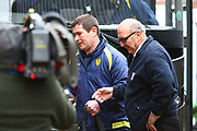 Burton Albion's manager Nigel Clough arrives at the stadium  during the EFL Sky Bet Championship match between Ipswich Town and Burton Albion at Portman Road, Ipswich, England on 10 February 2018. Picture by John Potts.
