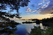 Sunset, Mt. Edgecumbe, Sitka Bay, Sitka, Alaska