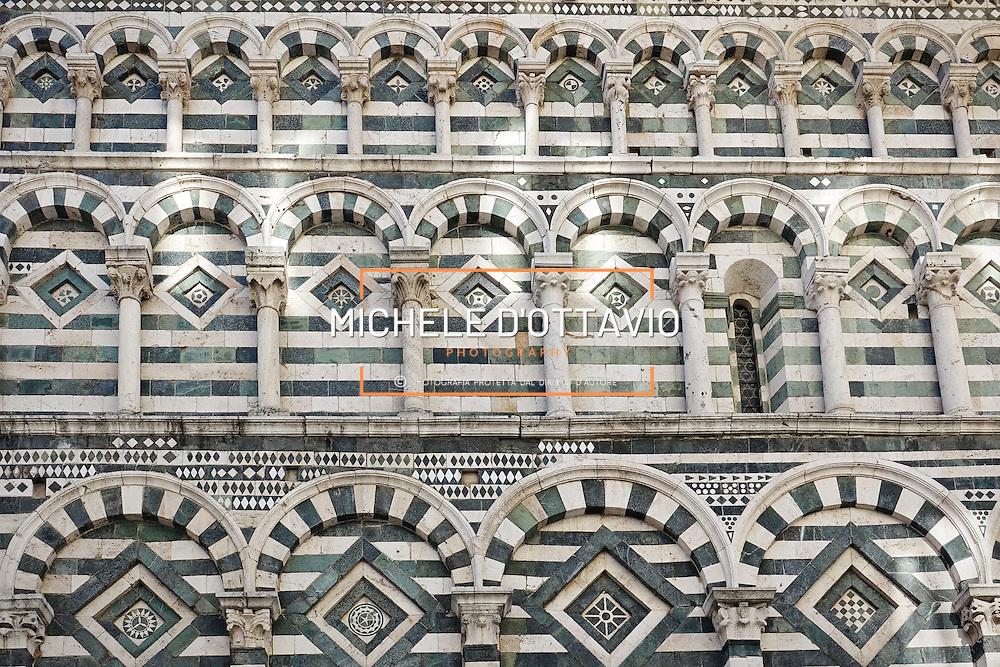Facciata della chiesa di San Giovanni Fuorcivitas, Pistoia Capitale della Cultura italiana 2017
